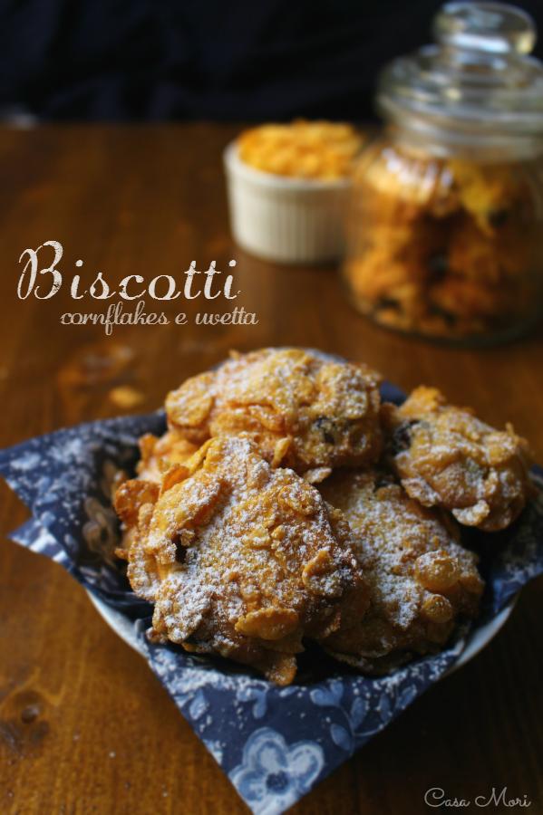 Biscotti ai cornflakes e uvetta