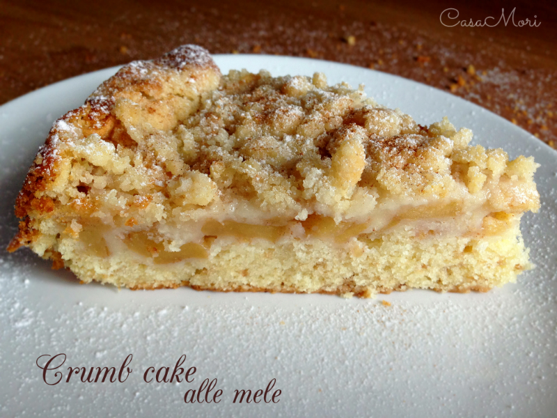 Crumb cake alle mele