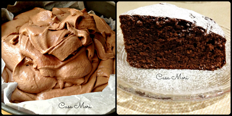 Dolce al cioccolato con impasto montato crudo e cotto
