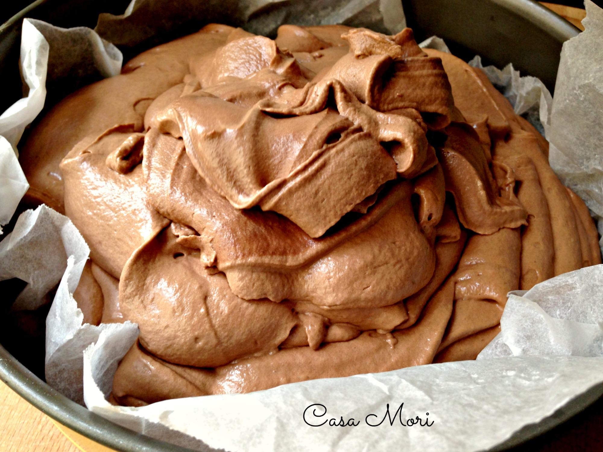 Impasto montato del Dolce al cioccolato