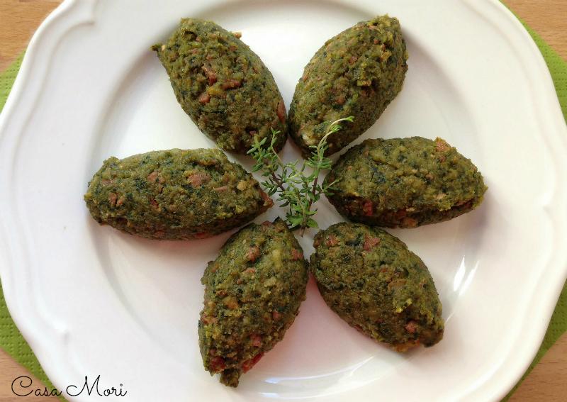 Polpette di pane, mortadella e spinaci