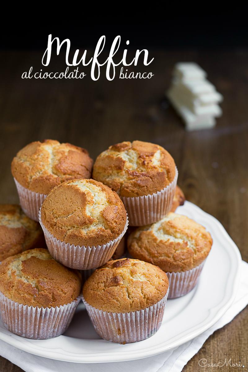 Muffin al cioccolato bianco e vaniglia