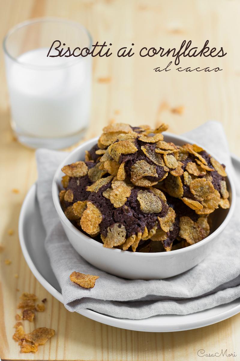 Biscotti ai corn flakes al cacao