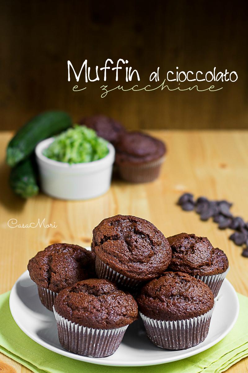 Muffin al cioccolato fondente e zucchine grattugiate