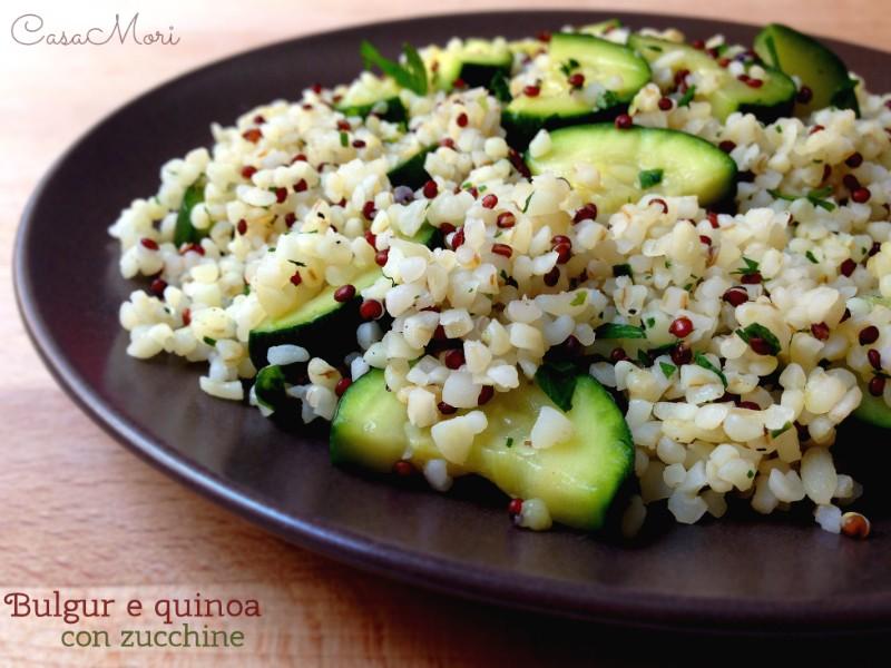 Bulgur e quinoa con zucchine e prezzemolo