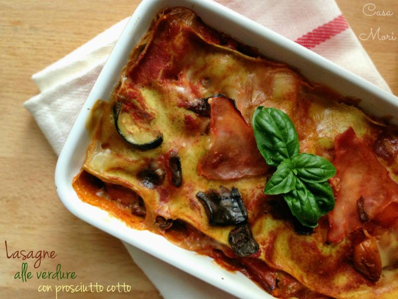Lasagne alle verdure con prosciutto cotto