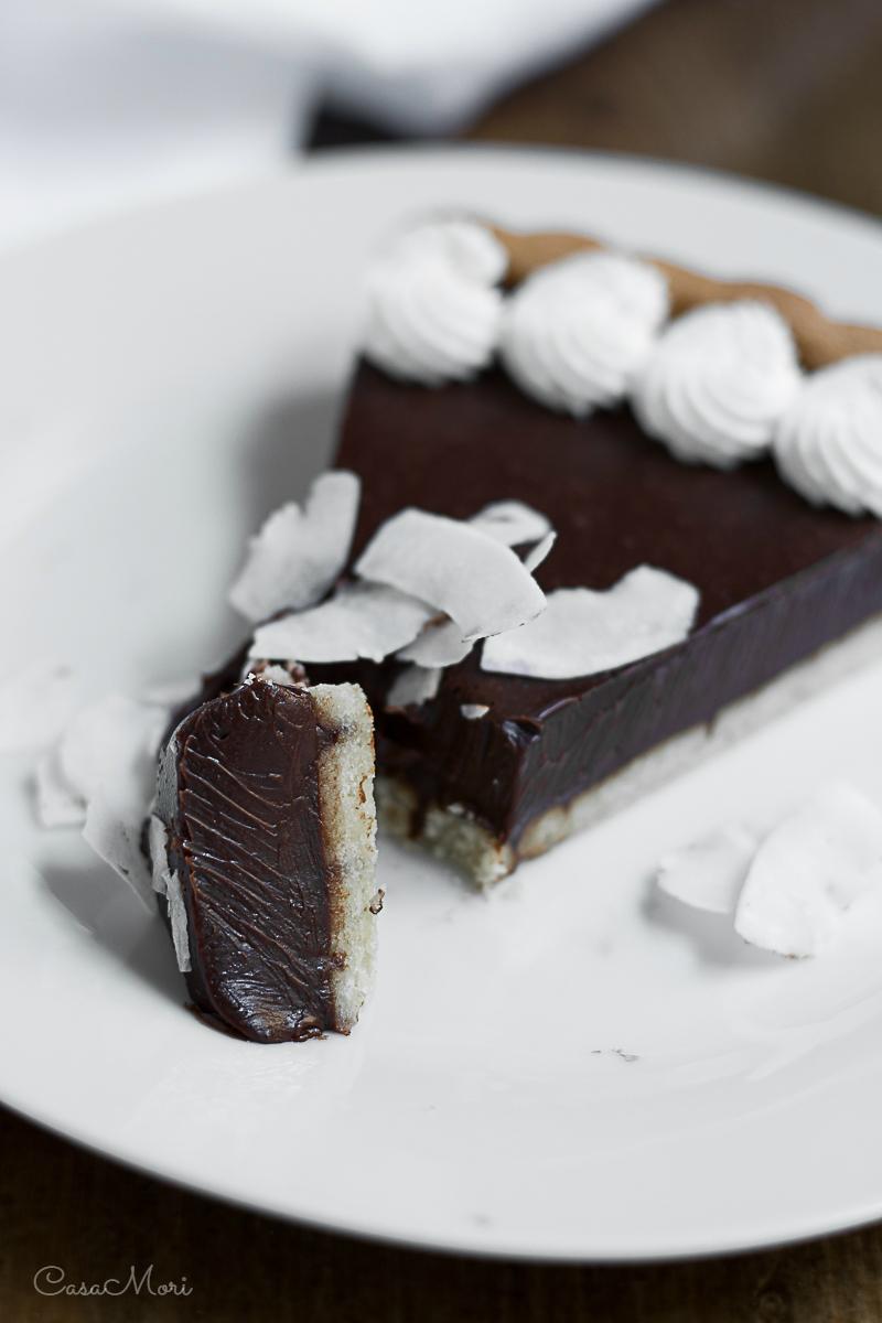 Crostata al cioccolato e latte di cocco