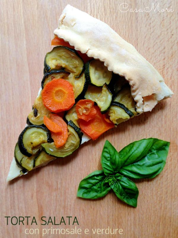 Torta salata con primosale e verdure