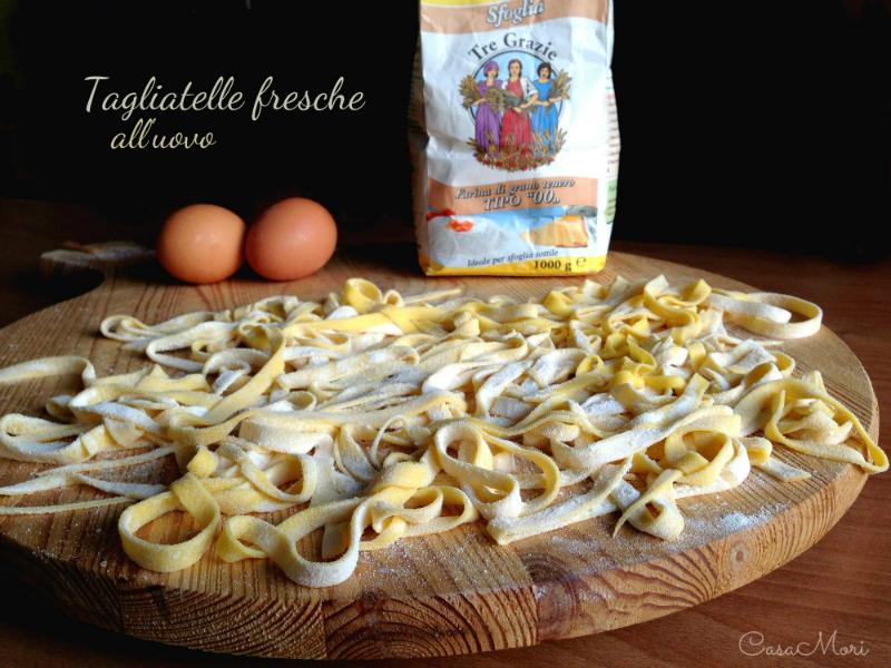 Tagliatelle fresche all'uovo