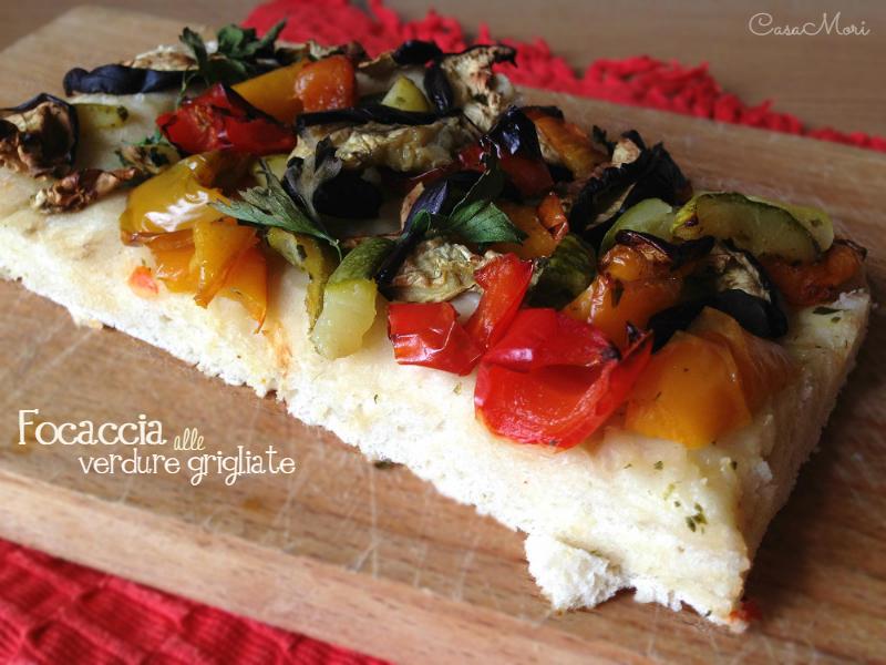 Focaccia alle verdure grigliate