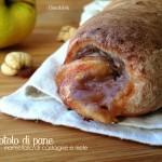 Rotolo di pane con marmellata di castagne, mele ed uvetta