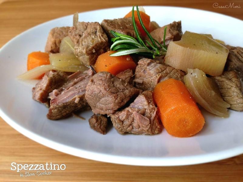 Spezzatino con verdure in Slow Cooker