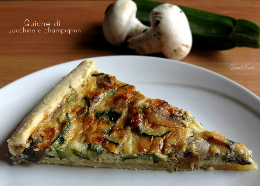 Quiche di zucchine e champignon