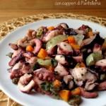 Insalata di polpo con capperi di Pantelleria e carote