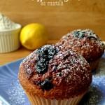 Muffin integrali con confettura di mirtilli