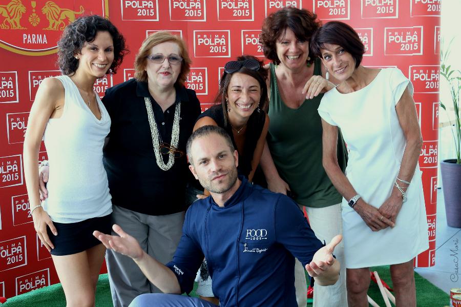 Io, Gilda Belloni, Sara Bonaccorsi, Viviana Guaraldo, Monica Bergomi e il mitico Simone Rugiati