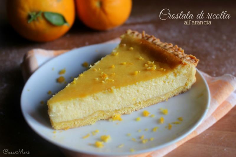 Crostata di ricotta all'arancia