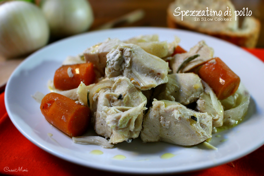 Spezzatino di pollo in Slow Cooker
