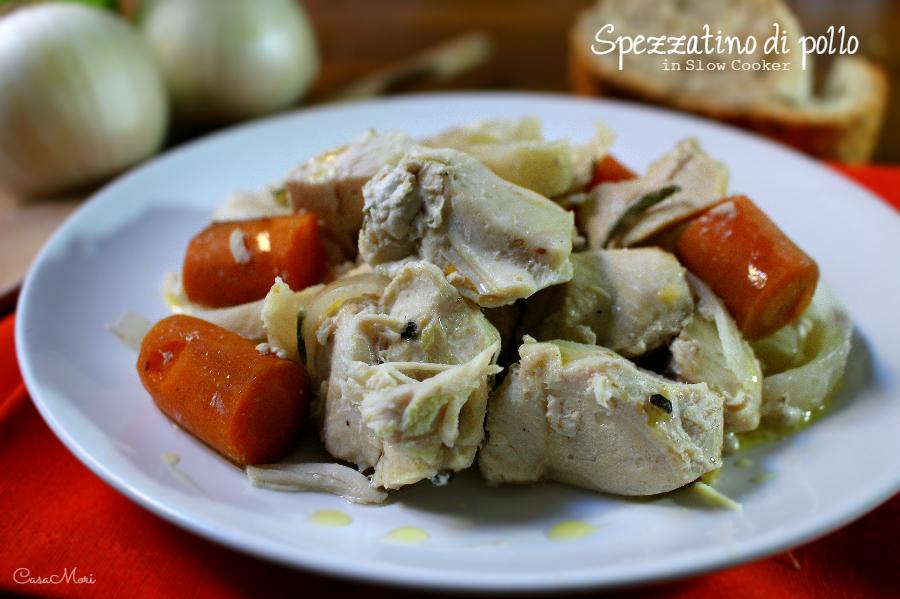 Spezzatino di pollo in Slow Cooker