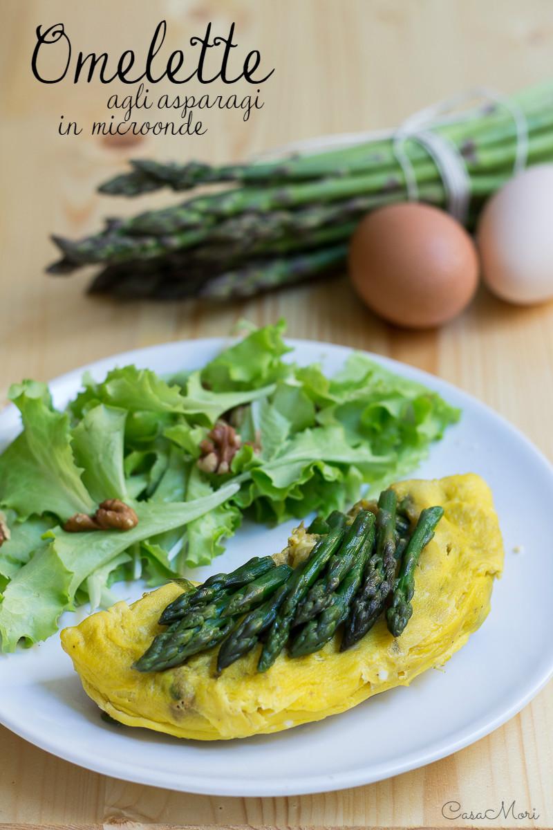 Omelette agli asparagi in microonde