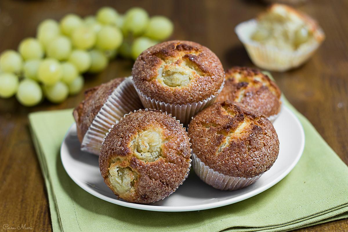 Muffin all'uva e panna