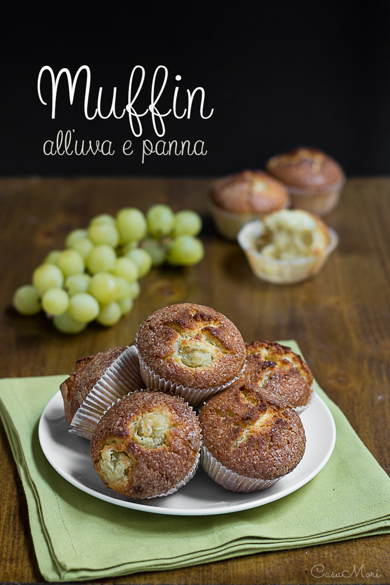 Muffin all'uva e panna
