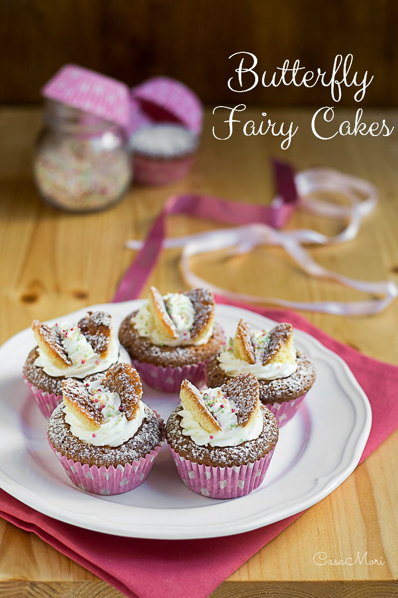 Butterfly Fairy Cakes con lemon curd e chantilly