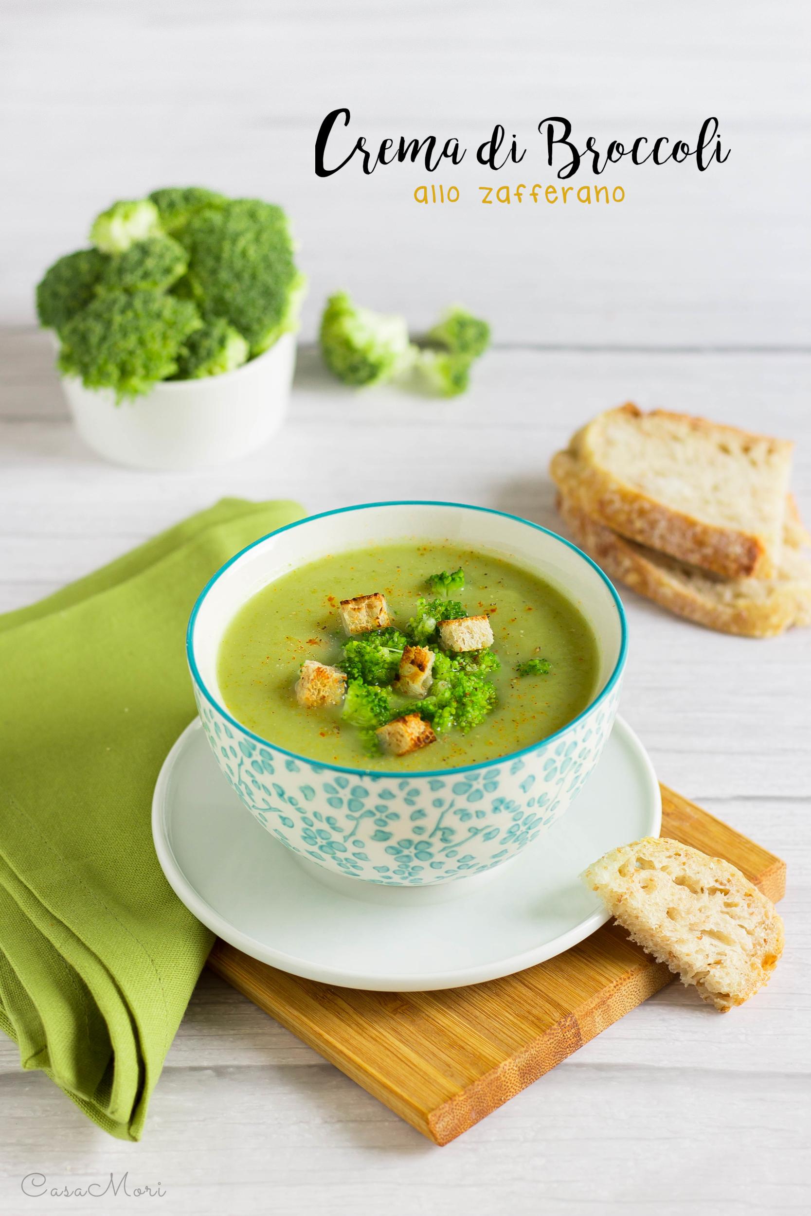 Crema di broccoli allo zafferano