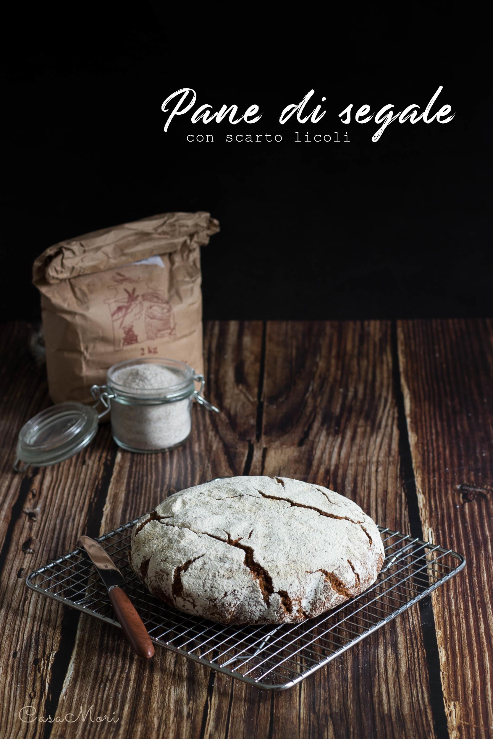 Pane di segale con scarto licoli