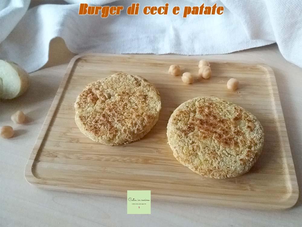 burger di ceci e patate