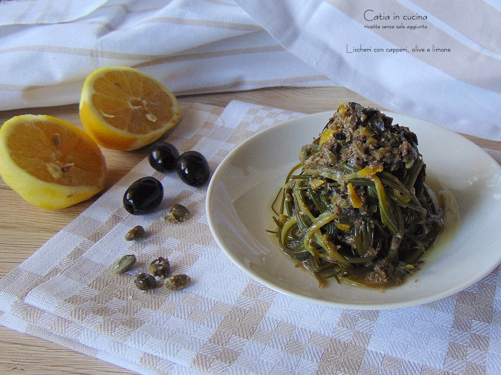 lischeri con capperi olive e limone