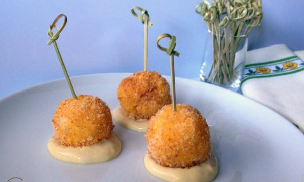 Polpettine di polenta ai due formaggi