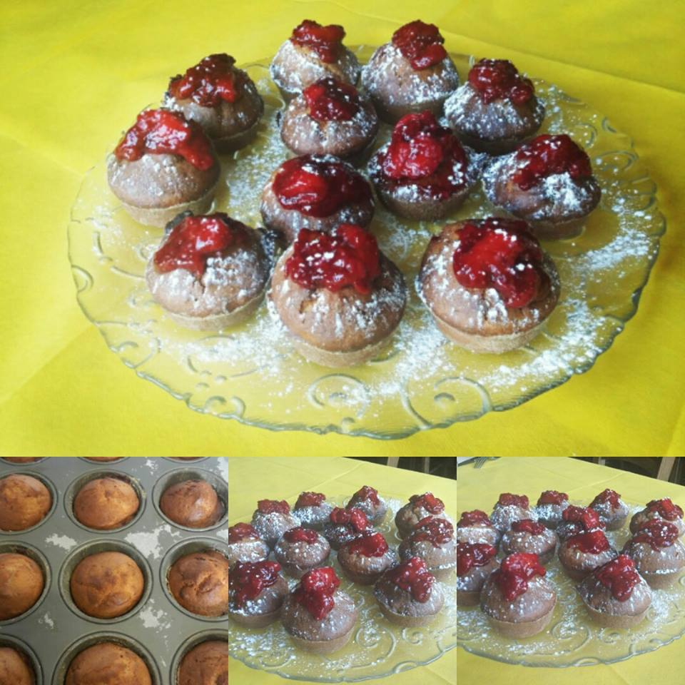 muffin alle fragole con yogurt - Cristina