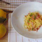 Tagliolini prosciutto e limone