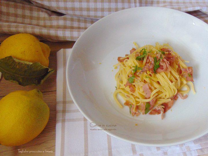 tagliolini limone e prosciutto