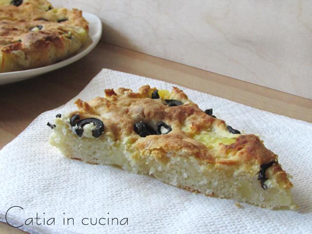 focaccia con patate e olive