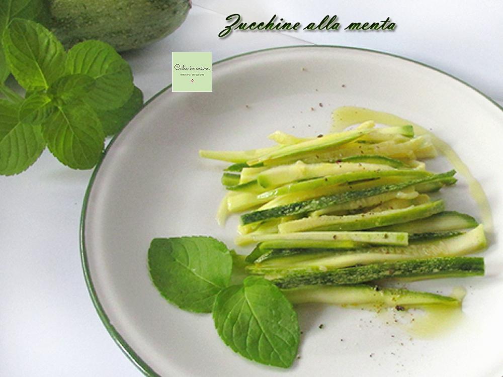 zucchine alla menta