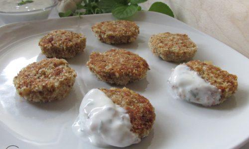 Polpettine vegetariane con salsa alla menta