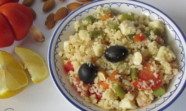 Cuscus vegetariano al limone e mandorle