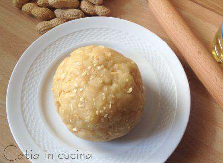 Pasta frolla alle arachidi (senza burro)