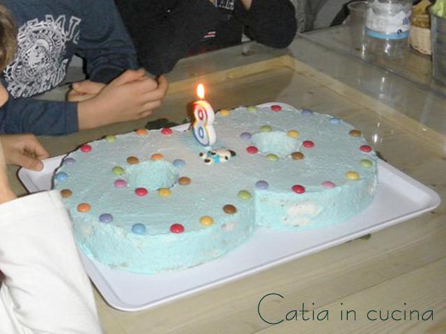 torta a forma di 8