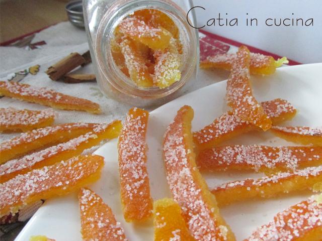 scorze di arancia candite alla cannella
