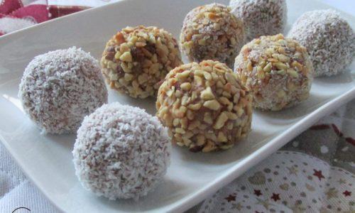 Tartufini alla crema di nocciole e cocco