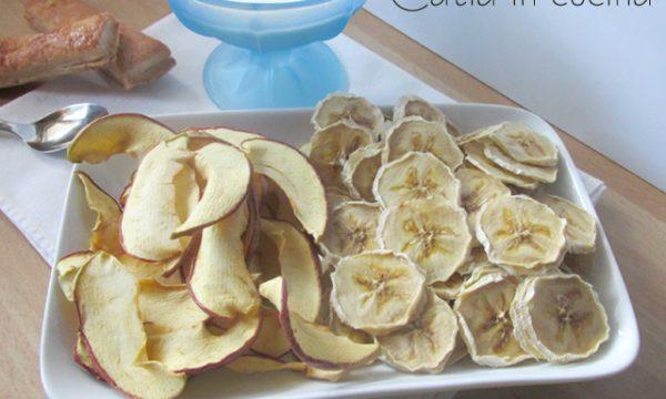 Chips di mela e banana, con essiccatore