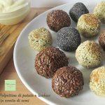 Polpettine vegane in crosta di semi