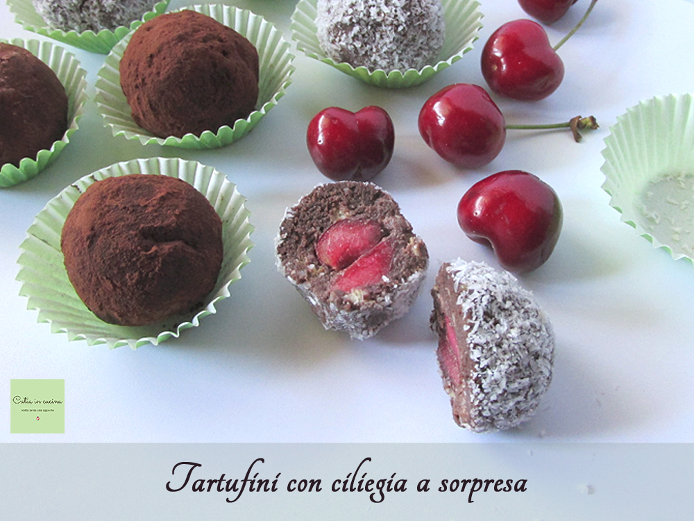 Tartufini con ciliegia a sorpresa
