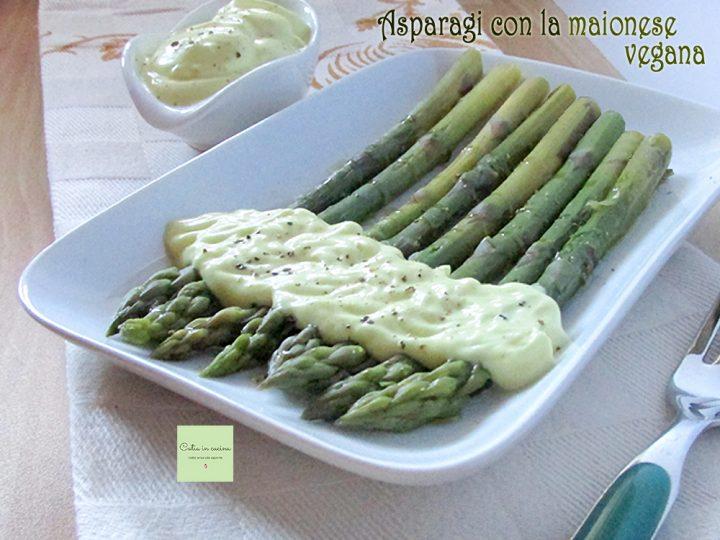asparagi con la maionese al pepe