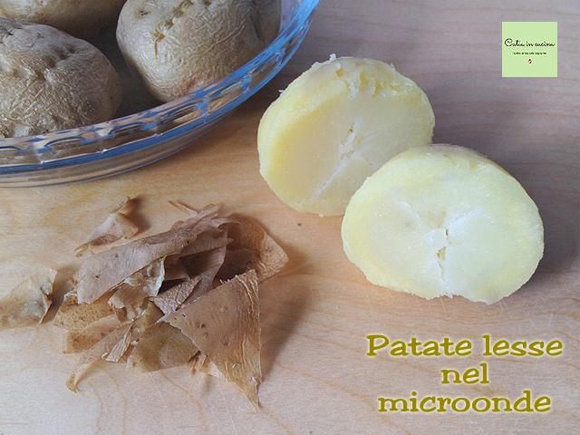 patate lesse col microonde-sbucciate