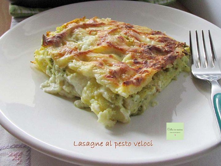 lasagne al pesto veloci - porzione