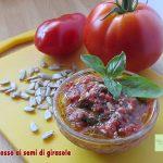 Pesto rosso ai semi di girasole (a freddo)
